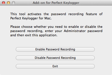 Capture / Record passwords entered on a Mac