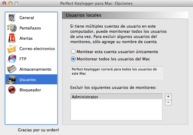 Mac keystroke recorder - users options
